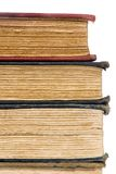 Old books 4. A stack of old books with worn covers and yellowed pages Royalty Free Stock Images