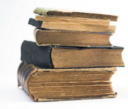 Old books. Stack of old books,isolated Stock Photos