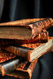 Old books. Style art background. Vintage things: books, candles and other royalty free stock photos