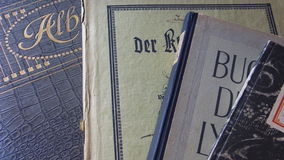 Old Books. Very different old german books Stock Images