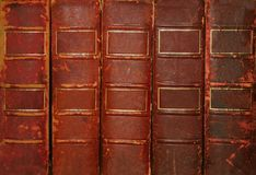 Old books. With blank spines Stock Images