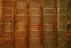 Old books. Old volumes of books Royalty Free Stock Image
