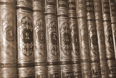 Old Books. Old numbered books in library Royalty Free Stock Image