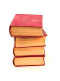 Old books. Shot of some old books on a white background Royalty Free Stock Photography