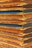 Old books. Closeup of a pile of old books stock image