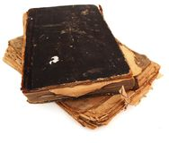 Old books. On the white background Stock Photography