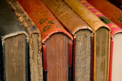 Old Books. In a Row Royalty Free Stock Photos