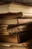 Old books. A stack of old,torn books,shallow depth of field Royalty Free Stock Photos