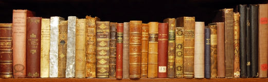 Old books. Very old books ('700, '800 Stock Photography