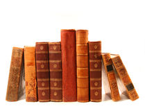 Old books against a white background Royalty Free Stock Photography