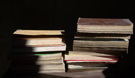 Old books. The books, all the stories of the world Royalty Free Stock Photos