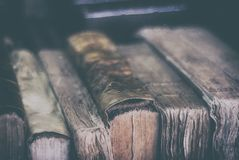 Old books ancient texture in collection antique literature obsolete. Old books ancient texture in collection antique Royalty Free Stock Image