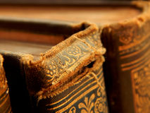 Old books. Antique, old books with ornaments Royalty Free Stock Photography