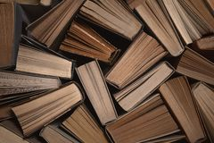 Old books background with copy space Stock Photos
