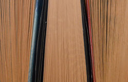 Old books background. Details of old books - top view - background image Royalty Free Stock Image