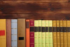 Old books background theme. Image stock photo