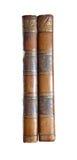 Old books backs. Isolated on white royalty free stock photos