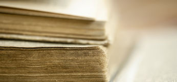 Old books banner Royalty Free Stock Image