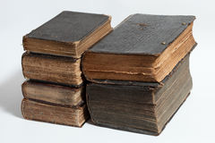 Old Books Bible Scripts Medieval Stock Photo