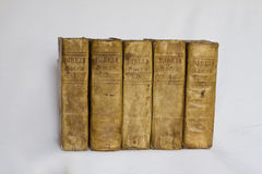Old Books - Bibles - on White Royalty Free Stock Photo