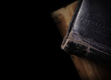 Old books  on black background Royalty Free Stock Photography