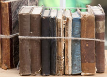 Old books bundle Royalty Free Stock Photo