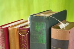 Old books, close up Stock Photography