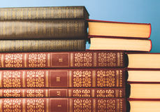 Old books close up Royalty Free Stock Photos