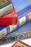 Old books with closeup Royalty Free Stock Photo