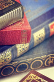 Old  books closeup Royalty Free Stock Photography