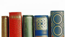 Old books closeup Royalty Free Stock Images