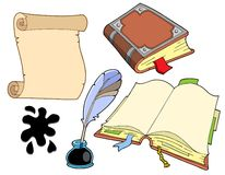 Old books collection. Vector illustration royalty free illustration