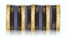 Old Books Collection On White Royalty Free Stock Photo