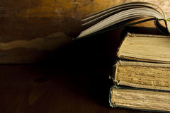 Old Books with Copy Space Royalty Free Stock Photography