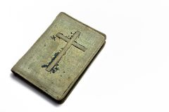 Old books cover on it a crucifix Stock Photography