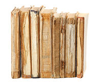 Old books of different shape and color Royalty Free Stock Image