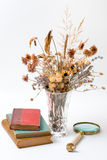Old books are dried flowers. Stock Photos
