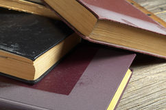 Old books with dust Royalty Free Stock Photography