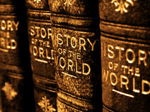 Old Books on the History of the World Royalty Free Stock Photos