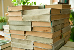 Old books are identical to each other ha Royalty Free Stock Image