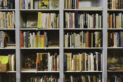 Free Old Books In Bookcase Stock Image - 161534031