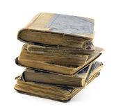 Old books isolated on white Stock Photos