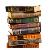 Old books isolated on white Stock Photo