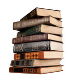 Old books isolated on white Royalty Free Stock Photo