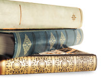 Old books. Isolated on White Stock Images
