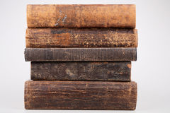 Old books. Old books isolated in a white background Stock Images