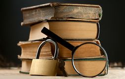 Old books with keylock