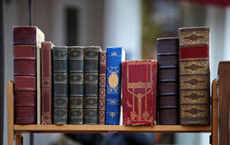 Old books library Royalty Free Stock Images
