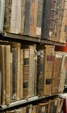 Old books in library database Royalty Free Stock Images