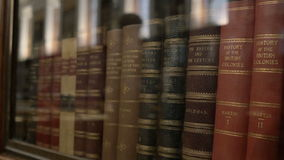 Old Books in Library stock video footage